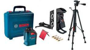 Лазерний нівелір Bosch GLL 2-20 в чемодані з кріпленням BM3, штативом BT 150