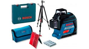 Лінійний лазерний нівелір Bosch GLL 3-80 в кейсі з штативом BT 150, мішенню, чохлом