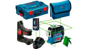 Лазерний нівелір Bosch GLL 3-80 CG в L-Boxx 136 з тримачем BM1, приймачем LR 7, мішенню, чохлом,  акб GBA 12V 2.0 Ah та з/п GAL 1230 CV