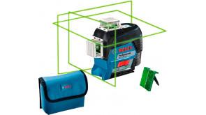 Лінійний лазерний нівелір Bosch GLL 3-80 CG з мішенню, чохлом, без акб та з/п