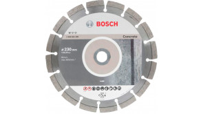 Алмазный круг Bosch Standart for Concrete 230x22,23x2,3x10