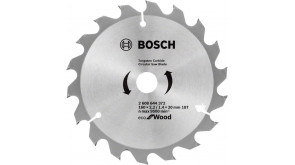 Пиляльний диск Bosch Eco for Wood 160x2,2x20-18T