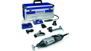Багатофункціональний інструмент Dremel 4000 6/128 Platinum в чемодані з 128 насадками та 6 приставками