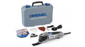 Універсальний інструмент Dremel Multi-Max MM40 (MM40-1/9) в чемодані з шліфпластиною, 6 шліфлистами, 2 пиляльними полотнами