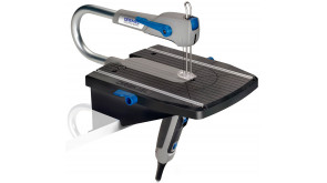 Стаціонарний лобзик DREMEL Moto-Saw (MS20-1/5) в чемодані з 5 пиляльними полотами та паралельною напрямною