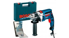 Дриль ударний Bosch Professional GSB 16 RE в чемодані з ЗВП та набором 7 свердел CYL 9 Multi Construction