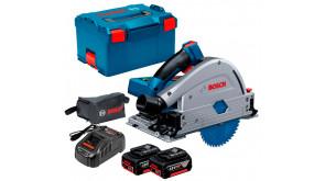Акумуляторна занурювальна пила Bosch Professional GKT 18V-52 GC в L-Boxx 238 з 2 акб GBA 18V 5 Ah, з/п GAL 1880 CV, пиляльним диском Expert for Wood 140 мм