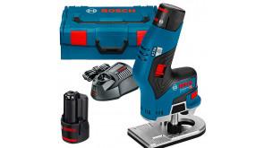 Фрезер акумуляторний Bosch GKF 12V-8 в L-Boxx 136 з 2 акб GBA 12V 3.0Ah та з/п GAL 12V-40