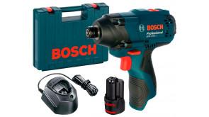 Гайкокрут ударний акумуляторний Bosch Professional GDR 120-LI в чемодані з 1 акб GBA 12V 2 Ah та з/п GAL 1210 CV