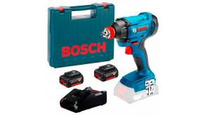 Гайкокрут ударний акумуляторний Bosch Professional GDX 180-LI з 2 акб GBA 18V 4.0Ah, з/п GAL 18V-40, в чемодані