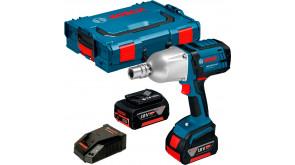 Гайкокрут ударний акумуляторний Bosch GDS 18 V-LI HT в L-Boxx 136 з 2 акб GBA 18V 4.0Ah та з/п AL 1860 CV