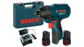 Гайкокрут ударний акумуляторний Bosch GDR 120-LI Professional в чемодані з 2 акб GBA 12V 2 Ah та з/п GAL 12V-20