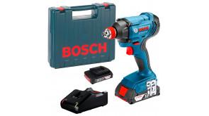 Гайкокрут ударний акумуляторний Bosch Professional GDX 180-LI з 2 акб GBA 18V 2.0Ah, з/п GAL 18V-40, в чемодані