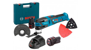 Багатофункціональний інструмент Bosch GOP 12V-28 в чемодані з 2 акб 12V 2 Ah та з/п GAL 1230 CV