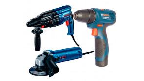 Набір інструментів Bosch перфоратор GBH 240 + болгарка GWS 670 + шурупокрут GSR 120 LI