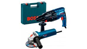 Набір інструментів Bosch перфоратор GBH 240 + болгарка GWS 750-115 в чемодані