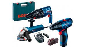Набір інструментів Bosch перфоратор GBH 240 + болгарка GWS 750-115 + шурупокрут GSR 120 LI