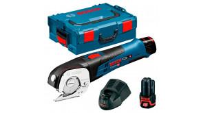 Ножиці універсальні акумуляторні Bosch GUS 12V-300 в L-Boxx 102 з 2 акб GBA 12V 2 Ah та з/п AL 1130 CV