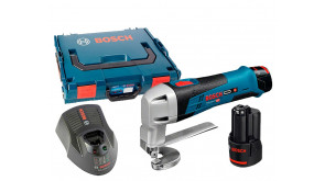 Акумуляторні ножиці Bosch GSC 12V-13 Professional в L-Boxx 102 з 2 акб GBA 12V 2,0 Ah та з/п AL 1130 CV