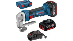 Аккумуляторные ножницы по металлу Bosch GSC 18V-16 в L-Boxx 136 с 2 акб GBA 18V 5,0 Ah и з/у GAL 1880 CV
