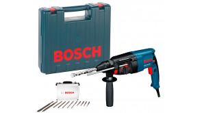 Перфоратор Bosch Professional GBH 2-26 DRE в чемодані з набором 11 бурів