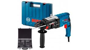 Перфоратор Bosch Professional GBH 2-28 в чемодані з набором SDS-plus Mixed Set