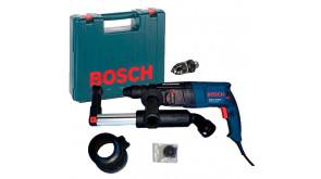 Перфоратор Bosch GBH 2-26 DFR Professional в чемодані з ШЗП, з насадкою пиловидалення GDE 16 Plus