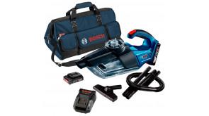 Пылесос аккумуляторный Bosch GAS 18V-1 в сумке с 2 акб GBA 18V 2.0Ah M-B и з/у AL 1820 CV