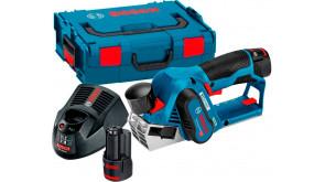 Рубанок акумуляторний Bosch GHO 12V-20 в L-Boxx 136 з 2 акб GBA 12V 3.0Ah та з/п GAL 1230 CV