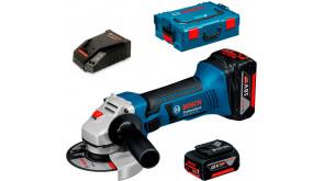 Кутова шліфмашина акумуляторна Bosch Professional GWS 18-125 LI в L-Boxx 136 з 2 акб GBA 18V 4 Ah та з/п AL 1860 CV