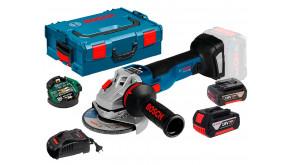 Кутова шліфмашина Bosch GWS 18V-10 SC в L-Boxx 136 з 2 акб 5Ah, з/п GAL 1880 CV та Bluetooth-модулем