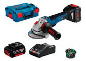 Болгарка акумуляторна Bosch GWS 18V-10 PSC в L-Boxx 136 з 1 акб ProCORE18V 8.0Ah, 1 акб GBA 18V 6.0Ah, з/п GAL 1880 CV, Bluetooth Low Energy Modul GCY 30-4