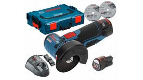 Болгарка акумуляторна Bosch GWS 12V-76 в L-Boxx 102 з 2 акб GBA 12V 3.0Ah та з/п GAL 1230 CV