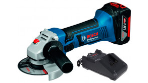 Болгарка вкумуляторна Bosch GWS 18-125 V-LI Professional з акб GBA 18 В 4.0 Ah та з/п GAL 18V-40