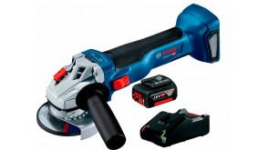 Акумуляторна безщіткова кутова шліфмашина Bosch GWS 18V-10 Professional з 1 акб GBA 18V 4.0Ah та з/п GAL 18V-40