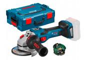 Акумуляторна кутова шліфмашина Bosch Professional GWS 18V-15 SC з регулюванням в L-Boxx 136 з Bluetooth модулем GCY 42