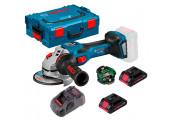 Акумуляторна кутова шліфмашина Bosch Professional GWS 18V-15 SC з регулюванням в L-Boxx 136 з Bluetooth модулем GCY 42, 2 акб ProCORE 18V 4.0Ah, з/п GAL 1880 CV