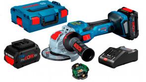 Акумуляторна безщіткова болгарка Bosch GWX 18V-15 SC Professional з регулюванням в L-Boxx 136 з 2 акб 18V 8.0Ah, з/п GAL 18V-160 C, с Bluetooth модулем GCY 42