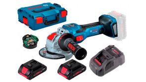 Акумуляторна безщіткова болгарка Bosch GWX 18V-15 SC Professional з регулюванням в L-Boxx 136 з 2 акб ProCORE 18V 4.0Ah, з/п GAL 1880 CV, з Bluetooth модулем GCY 42