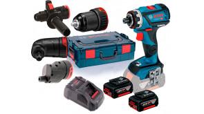 Акумуляторний безщітковий шурупокрут Bosch Professional GSR 18V-60 FC в L-Boxx 136 з 2 акб GBA 18V 5.0Ah та з/п GAL 1880 CV