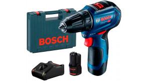 Дриль-шурупокрут Bosch GSR 12V-30 Professional в чемодані з 2 акб GBA 12V 2 Ah та з/п GAL 12V-40