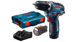 Безщітковий акумуляторний дриль-шурупокрут Bosch GSR 12V-35 в L-Boxx 102 з 2 акб GBA 12V 3.0 Ah та з/п GAL 12V-40