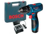 Акумуляторний дриль-шурупокрут Bosch GSR 120-LI в чемодані з 1 акб GBA 12V 1,5 Ah та з/п GAL 12V-20