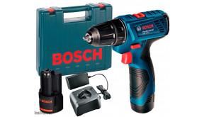 Акумуляторний дриль-шурупокрут Bosch Professional GSR 120-LI в чемодані з 2 акб GBA 12V 1,5 Ah та з/п GAL 12V-20