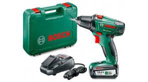 Акумуляторний дриль-шурупокрут Bosch PSR 14,4 LI-2 в чемодані з акб РВА 14,4V 2,5 Ah WB та з/п AL 1830 CV