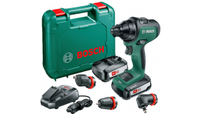 Акумуляторний безщітковий шурупокрут Bosch AdvancedDrill 18 в чемодані з 2 акб PBA 18 V 2,5 Ah W-B та з/п AL 1830 CV