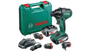 Акумуляторний дриль-шурупокрут Bosch AdvancedDrill 18 в чемодані з 2 акб PBA 18 V 2,5 Ah W-B та з/п AL 1830 CV
