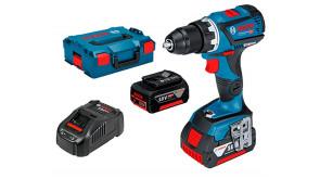 Безщітковий акумуляторний дриль-шурупокрут Bosch Professional GSR 18V-60 в L-Boxx 136 із 2 акб GBA 18V 5.0Ah та з/п GAL 1880 CV