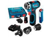 Акумуляторний шурупокрут Bosch Professional GSR 12V-15 FC в L-Boxx 102 з 2 акб GBA 12V 2,0 Ah, з/п GAL 12V-40 та ліхтариком GLI 12V-300