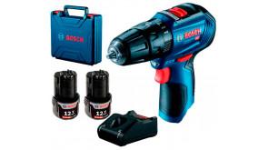 Безщітковий акумуляторний ударний шурупокрут Bosch GSB 12V-30 Professional в кейсі з 2 акб GBA 12V 2Ah та з/п GAL 12V-40